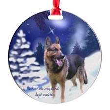 German Shepherd Round Ornament