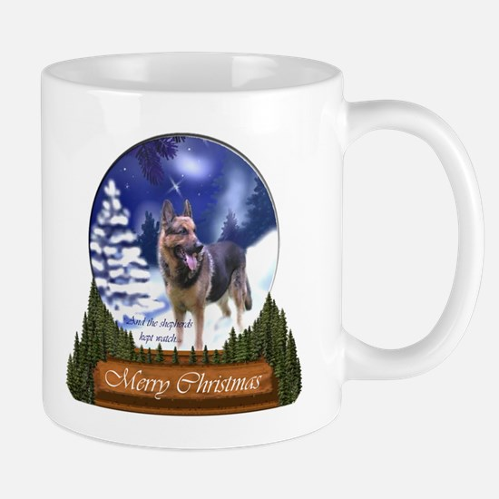 German Shepherd Christmas Mug