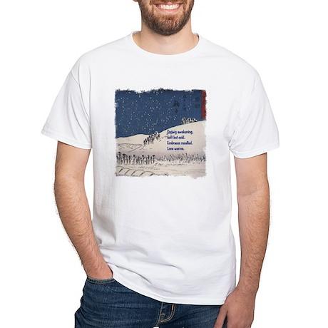 Hiroshige and Haiku White T-Shirt