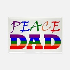 PEACE DAD (RB) Rectangle Magnet