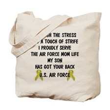 Air Force Mom - My Son has got your back Poem Tote