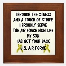 Air Force Mom - My Son has got your back Poem Fram