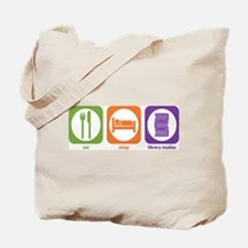 Eat Sleep Library Tote Bag
