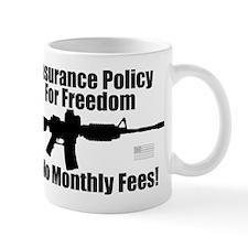 Insurance Policy for Freedom AR-15 Rev Flag Mug
