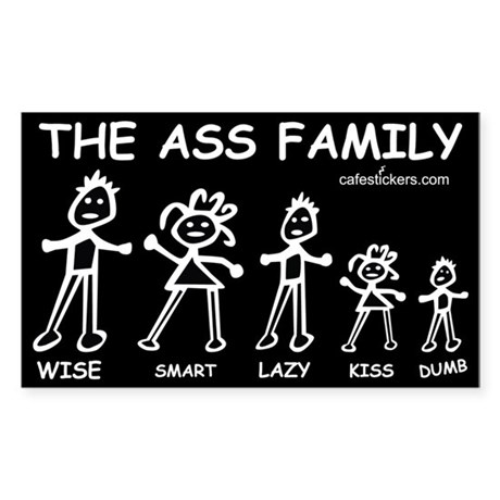 The Ass Family Sticker