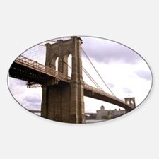 Brooklyn Bridge (Morning) Sticker (Oval)