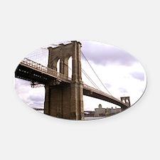 Brooklyn Bridge (Morning) Oval Car Magnet
