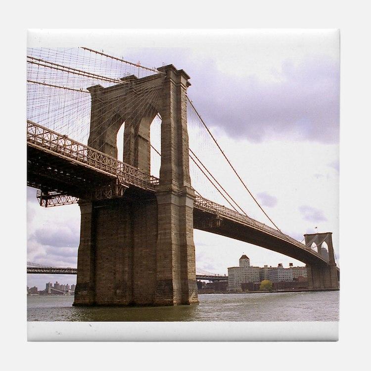 Brooklyn Bridge (Morning) Tile Coaster