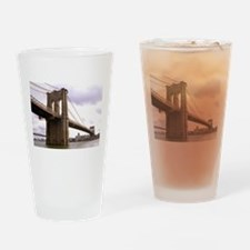 Brooklyn Bridge (Morning) Drinking Glass
