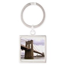 Brooklyn Bridge (Morning) Square Keychain