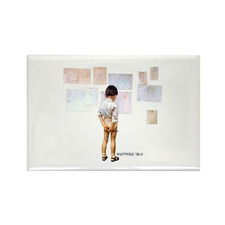 A Child Shall Lead Rectangle Magnet