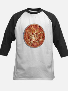 Pizza Face Kids Baseball Jersey