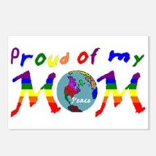 Proud of my Peace Mom! (RB) Postcards (Package of