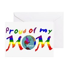 Proud of my Peace Mom! (RB) Greeting Cards (Packag