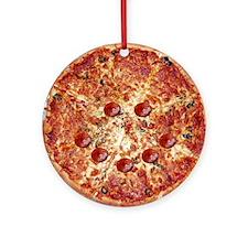 Pizza Face Ornament (Round)