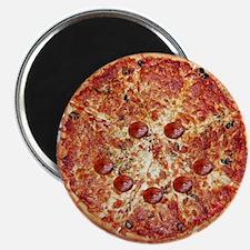 Pizza Face Refrigerator Magnet