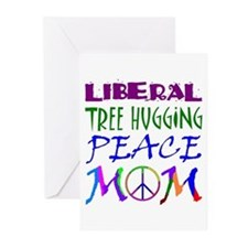 LIBERAL PEACE MOM Greeting Cards (Pk of 10)