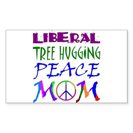 LIBERAL PEACE MOM Rectangle Sticker