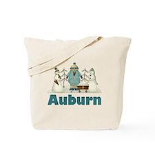Winter Snowmen Auburn Tote Bag