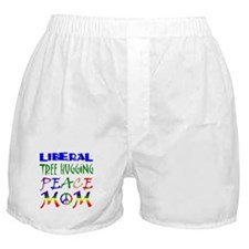 LIBERAL PEACE MOM (RB) Boxer Shorts