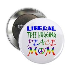 """LIBERAL PEACE MOM (RB) 2.25"""" Button (10 pack)"""