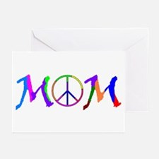 Peace Sign Mom Greeting Cards (Pk of 10)