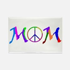 Peace Sign Mom Rectangle Magnet