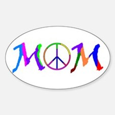 Peace Sign Mom Oval Decal