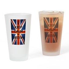 Keep Calm I'm British Drinking Glass