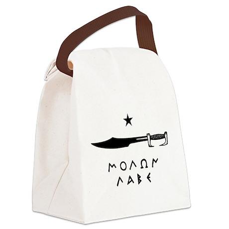 Molon Labe Canvas Lunch Bag