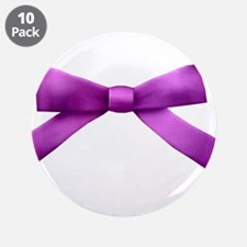 """Purple Bow Tie 3.5"""" Button (10 pack)"""