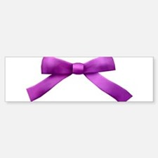 Purple Bow Tie Bumper Bumper Sticker