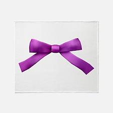 Purple Bow Tie Throw Blanket