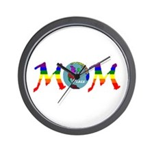 Peace on Earth Mom (RB) Wall Clock