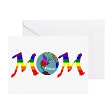 Peace on Earth Mom (RB) Greeting Cards (Package of