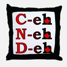 Canada Eh! Funny Canadian T-Shirt Throw Pillow