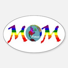 Peace on Earth Mom (RB) Oval Decal