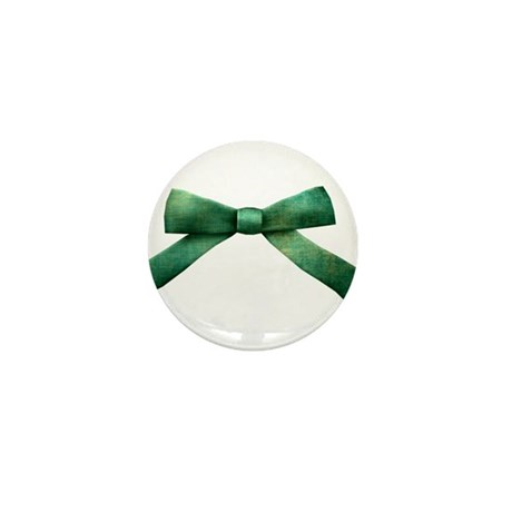 Green Bow Tie Mini Button (10 pack)