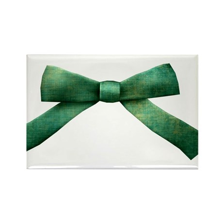 Green Bow Tie Rectangle Magnet