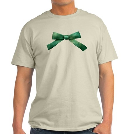 Green Bow Tie Light T-Shirt