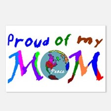 Proud of my Peace Mom! Postcards (Package of 8)