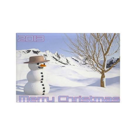 Holiday Snow! Rectangle Magnet