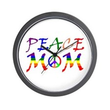 Rainbow Peace Mom Wall Clock