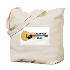 Chick With Picks 2 Tote Bag