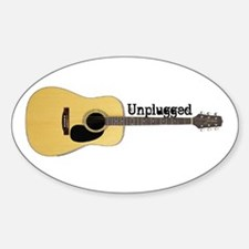 Unplugged Oval Decal