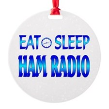 Eat Sleep Ham Radio Ornament
