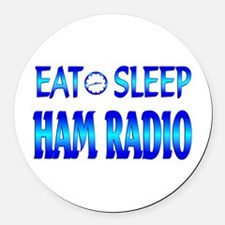 Eat Sleep Ham Radio Round Car Magnet