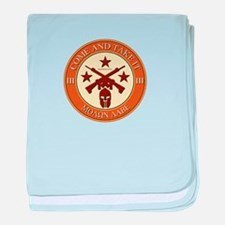 Come and Take It (Orange/Beige Round) baby blanket