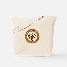 Come and Take It (Orange/Beige Round) Tote Bag