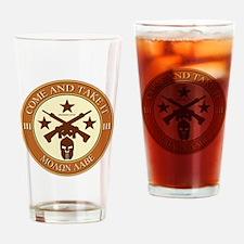 Come and Take It (Orange/Beige Round) Drinking Gla